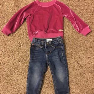 Hudson Outfit Sweater & Jeans 12 Months